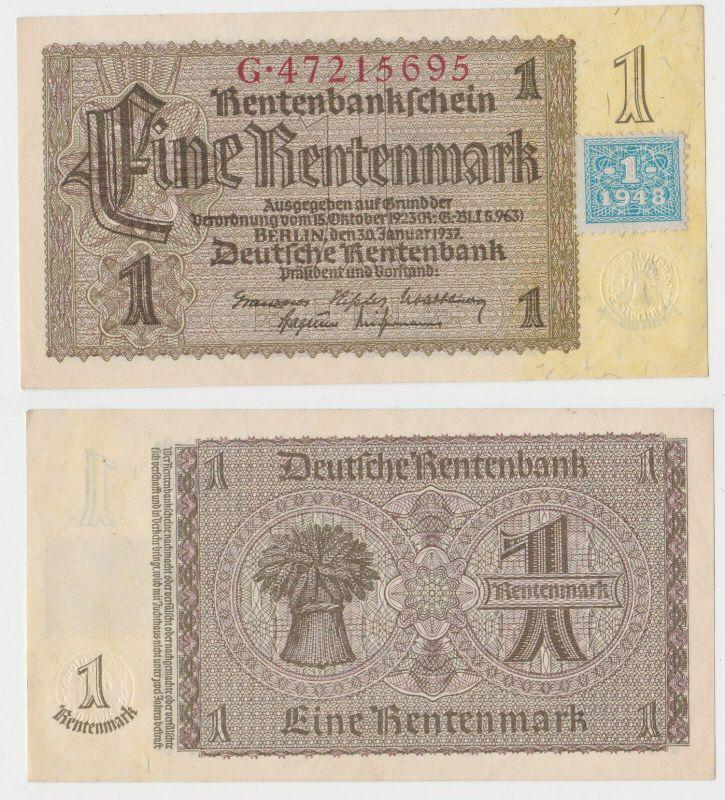 1 Mark Banknote DDR Deutsche Notenbank 1948 Kuponausgabe Ro.Nr.330 b (132314)