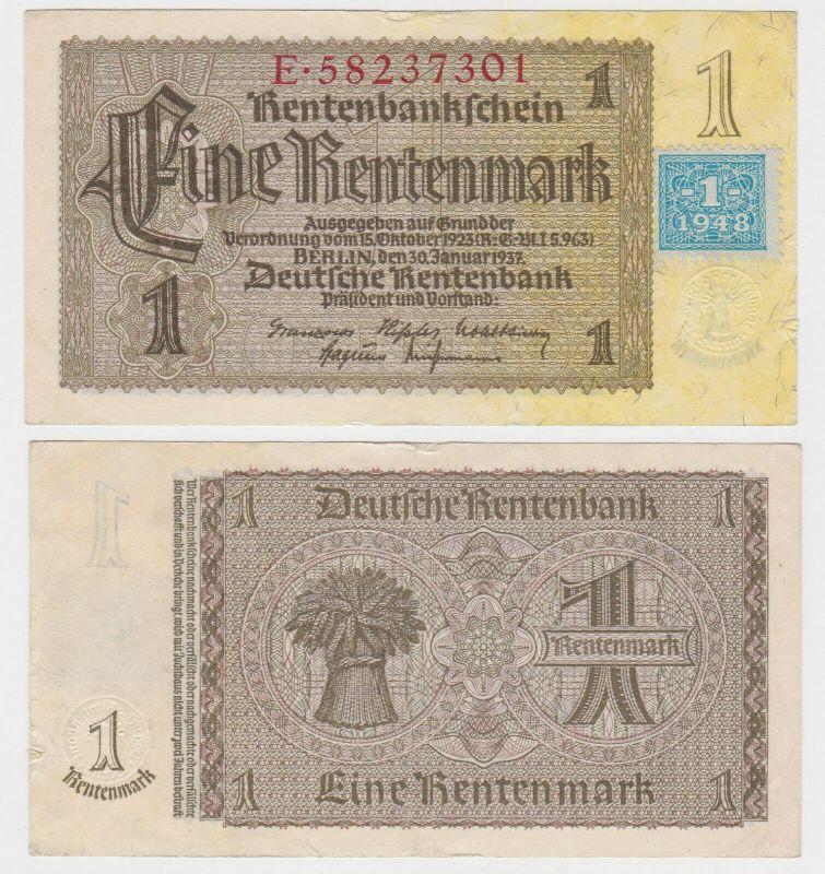 1 Mark Banknote DDR Deutsche Notenbank 1948 Kuponausgabe Ro.Nr.330 b (132308)