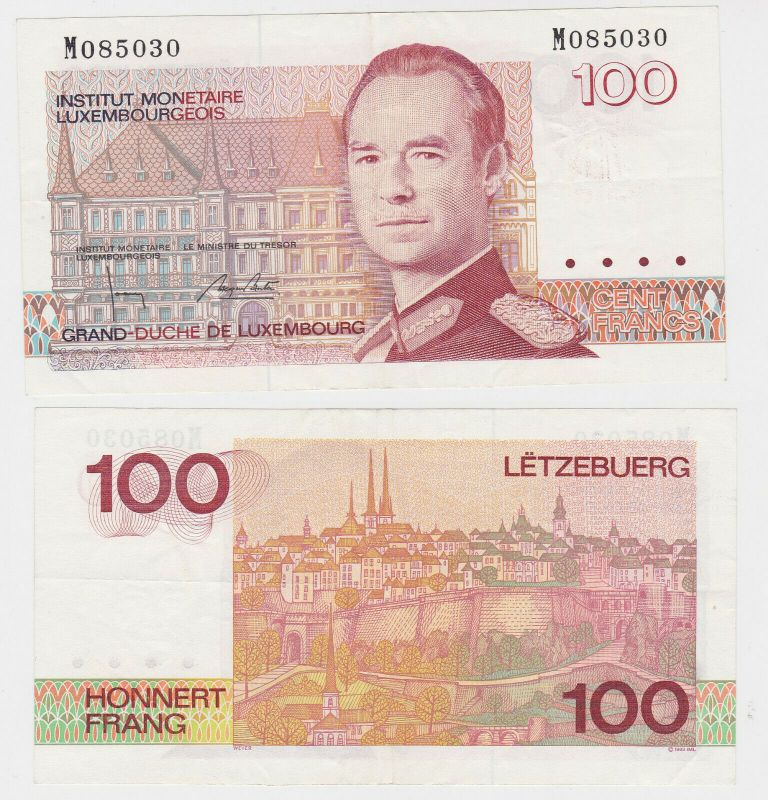 100 Francs Banknote Luxembourg 1993 (131813)