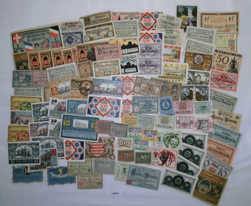 Sammlung mit 100 Banknoten Notgeld Deutsches Reich um 1921 (132515)