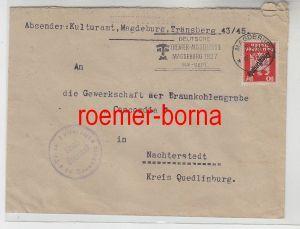 83231 Brief mit Stempel Dt.Theater Ausstellung Magdeburg 1927