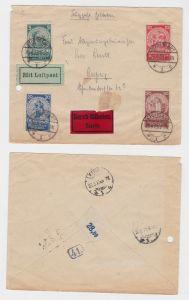 Luftpost Einschreiben Brief mit Michel Nr.351-354, 1925 (126839)