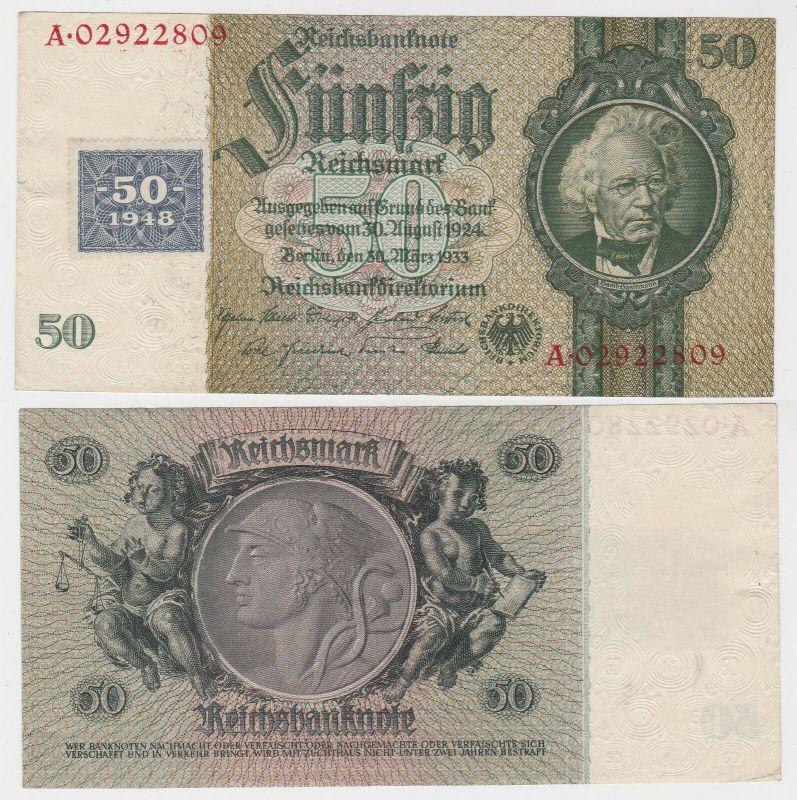 50 Mark Banknote DDR Deutsche Notenbank 1948 Kuponausgabe Ro.Nr.337 d (131808)