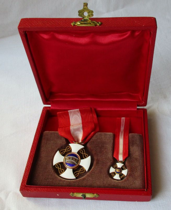 Orden der Italienischen Krone Ritterkreuz im Originaletui (114327)