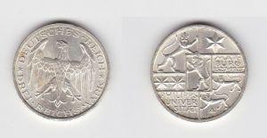 3 Mark Silber Münze Universität Marburg 1927 (132714)