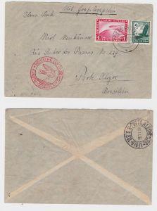 Zeppelin Brief Europa Südamerika 1935 mit Michel 535, 455 (126488)
