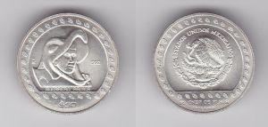 50 Peso Silber Münze Mexiko 1992 Guerrero Aguila 1/2 Unze Feinsilber (132347)