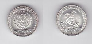 25 Peso Silber Münze Mexiko 1992 Guerrero Aguila 1/4 Unze Feinsilber (132325)