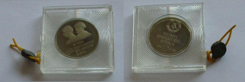 DDR Gedenk Münze 10 Mark 30 Jahre Kampfgruppen d.Arbeiterklasse 1983 PP (132258)