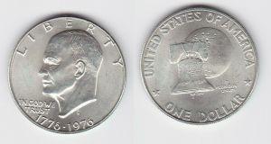 USA UNITED STATES 1976 1 Dollar Silber Stgl. (131267)