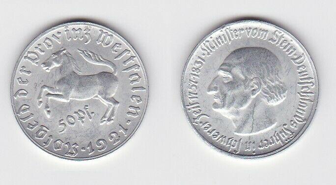 50 Pfennig Not Münze Provinz Westfalen 1921 Jäger N9 (114672)