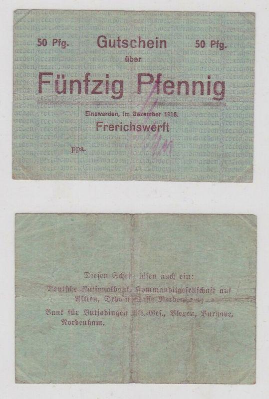 50 Pfennig Banknote Notgeld Einswarden Frerichswerft 1918 (133010)