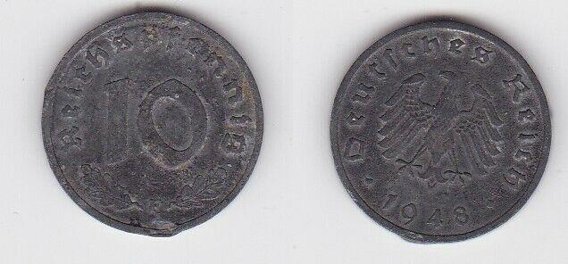 10 Reichspfennig Zink Münze 3.Reich 1948 F Jäger 375 (130715)