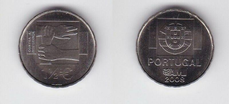 1 1/2 Euro Münze Portugal 2008 (AMI) gegen die Gleichgültigkeit (132332)