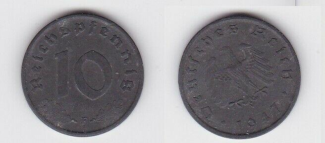 10 Reichspfennig Zink Münze 3.Reich 1947 F Jäger 375 (130082)