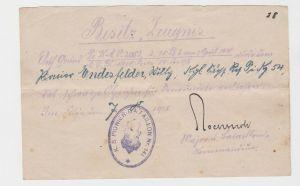 Urkunde zum Verwundetenabzeichen schwarz 1.Weltkrieg 1918 (125506)