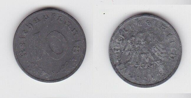 10 Reichspfennig Zink Münze 3.Reich 1948 F Jäger 375 (130766)