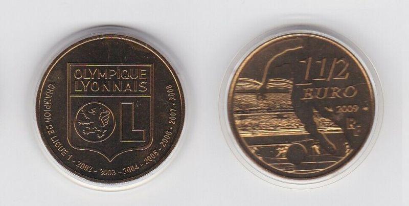 1 1/2 Euro Münze Frankreich Olympique Lyonnais (Lyon) 2009 (131879)