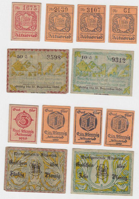 6 Banknoten Notgeld Marktgemeinde Altusried 1920 (133169)