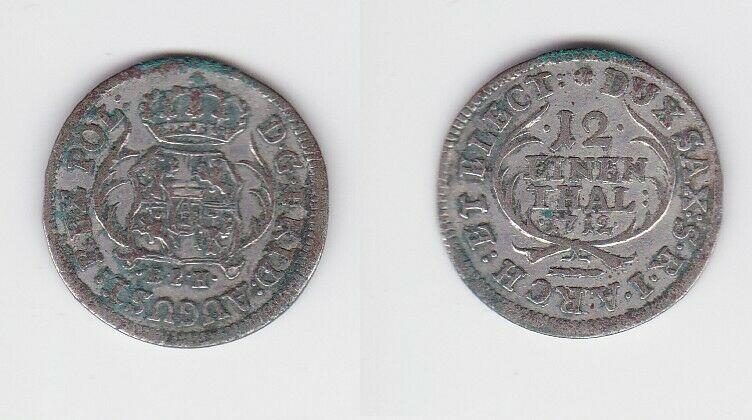 1/12 Taler Silber Münze Sachsen 1712 EPH (129896)