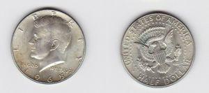 1/2 Dollar Silber Münze USA 1965 J.F. Kennedy (131598)