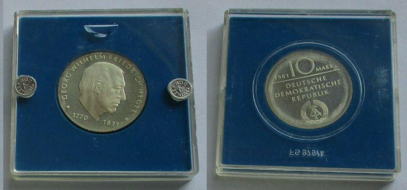 DDR Gedenk Münze 10 Mark Georg Wilhelm Friedrich Hegel Silber PP (131956)