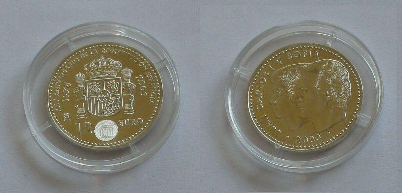12 Euro Silbermünze Spanien Juan Carlos & Sofia 2003 (131780)