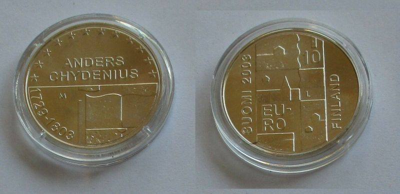 10 Euro Silbermünze Finnland 200.Todestag von Anders Chydenius 2003 (131922)