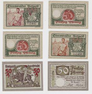 3 x 50 Pfennig Banknoten Notgeld Stadt Eberswalde 1918/1919 (132796)