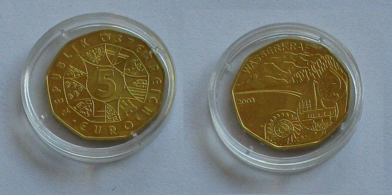 5 Euro Silber Münze Österreich 2003 Wasserkraft (131783)