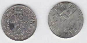DDR Gedenk Münze 10 Mark 100.Jahre 1.Mai Feiertag 1990 (123873)