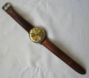 Seltene GUB Glashütte Armbanduhr Spezimatic 26 Rubis Gold Plaque (125285)