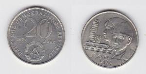 DDR Gedenk Münze 20 Mark 30.Jahrestag der DDR 1979 (126709)