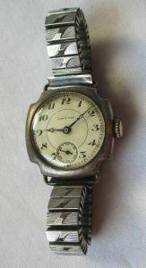 Seltene Original Longines Damen Armbanduhr 925er Silber um 1930 (119674)