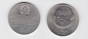 DDR Gedenk Münze 20 Mark Karl Marx 1983 (122496)