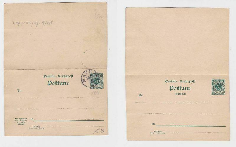 92270 Ganzsachen Ak Deutsch Neu-Guinea Stempel Matupi 1900