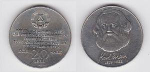 DDR Gedenk Münze 20 Mark Karl Marx 1983 (120030)