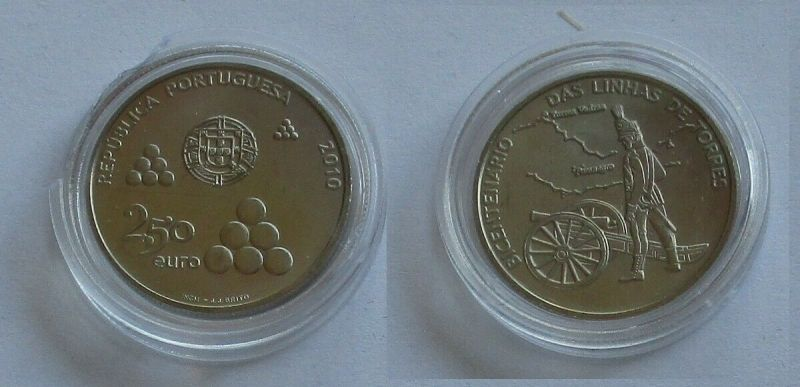 2,5 Euro Münze Portugal 2010 das Linhas de Torres port. Wallanlage (132189)