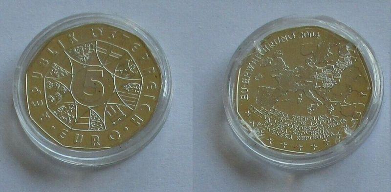 5 Euro Silber Münze Österreich 2004 EU Erweiterung (132092)