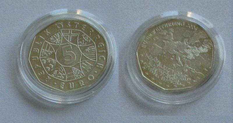 5 Euro Silber Münze Österreich 2004 EU Erweiterung (131643)