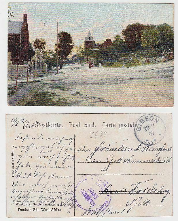 70205 Feldpost Ak Deutsch Ost Afrika Windhuk Gouvernementsstraße 1907