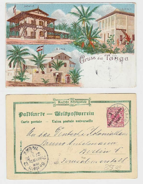 21168 Ganzsachen Ak Gruß aus Tanga Deutsch Ost Afrika 1898