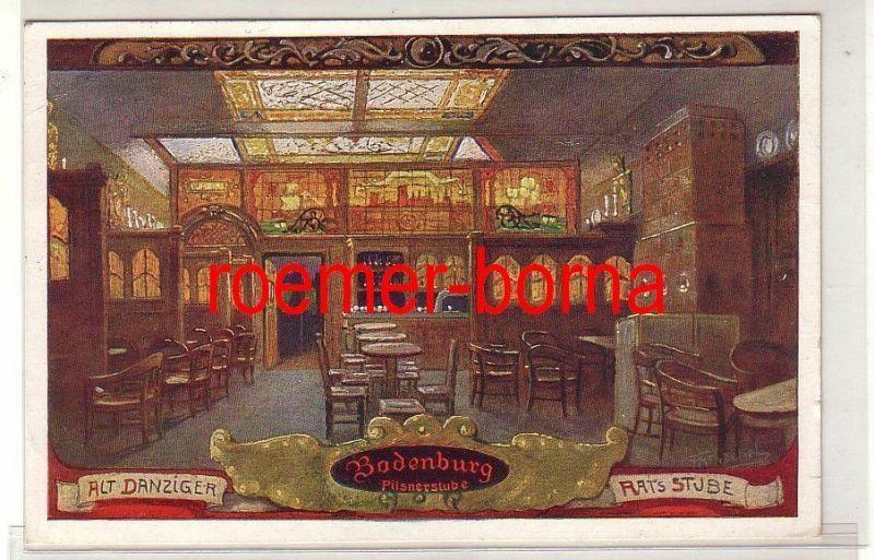 77747 Ak Alt Danziger Ratsstube Bodenburg Pilsnerstube 1928
