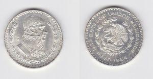 1 Peso Silber Münze Mexiko 1964 (130965)