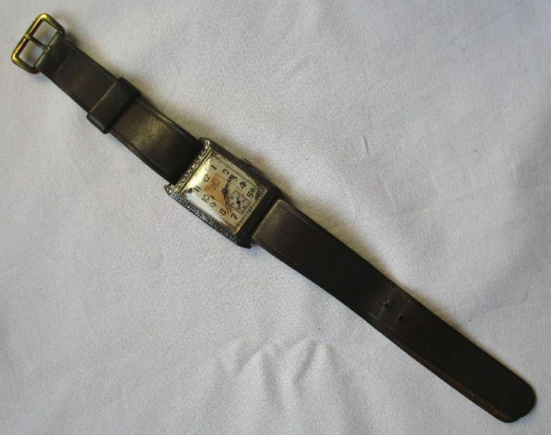 Seltene Curvex Armbanduhr der Marke Omega 925er Silber um 1900 (115700)