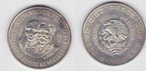 10 Peso Silber Münze Mexiko 1960 Unabhängigkeit (131297)