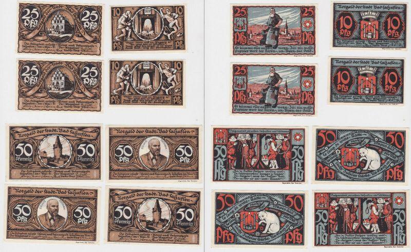 8 Banknoten Notgeld Bad Salzuflen um 1921 (133098)