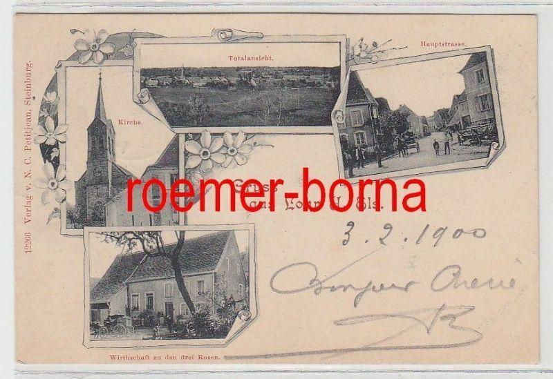 73901 Mehrbild Ak Gruss aus Lohr Elsass Wirtschaft, Hauptstrasse usw. 1900