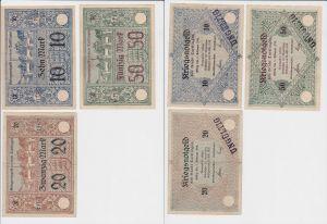 10, 20 & 50 Mark Banknoten Notgeld Stadt Tuttlingen 23.Oktober 1918 (133069)
