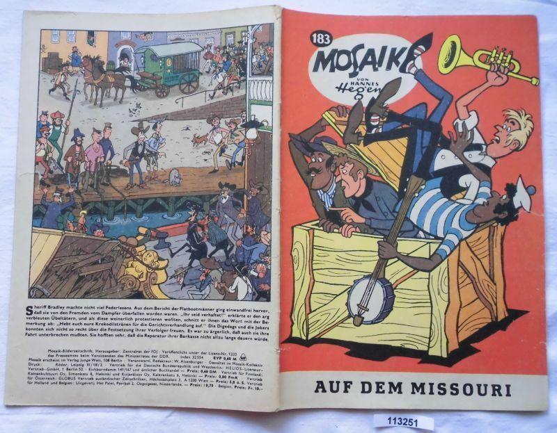 Seltenes Mosaik Heft Hannes Hegen Digedags Nr.183 Schwarze Serie (113251)